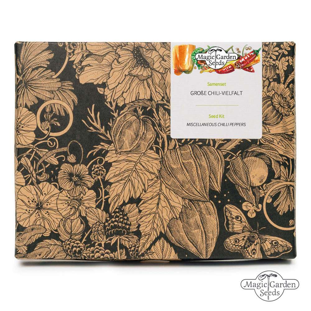 'Miscellaneous Chilli peppers' seed kit gift box 20 incredible varieties