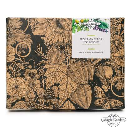 'Fresh herbs for fish dishes' seed kit gift box