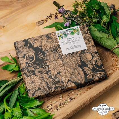 'Important medicinal plants of midwifery and gynecology' seed kit gift box