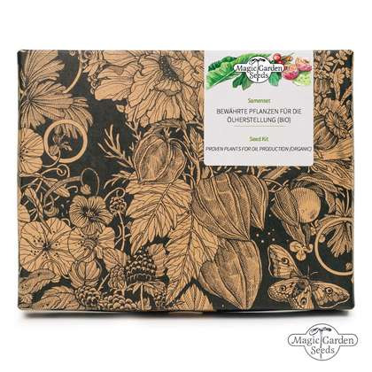 Proven Plants For Oil Production (Organic) - Seed kit gift box set