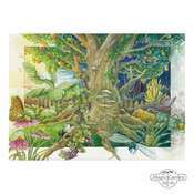 Postcard: THE MAGICAL GARDEN - hand-painted illustration, format DIN A6