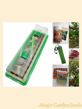 Chili cultivation set (heated):' Professional - Asia-Food', 5 different Asian chili seed varieties with propagator, sowing accessories and matching heating mat