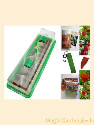 Chili cultivation set (heated):' Professional - Hottest chillies in the world', 5 extremely hot varieties of chili seeds with propagator, heating mat & sowing accessories