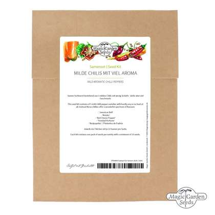 Seeds kit: 'Mild chilli peppers', 5 aromatic and tasty varieties