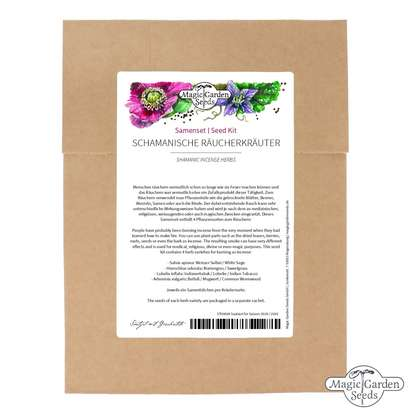 Seed kit: 4 Shamanic Incense Herbs for burning, curing & fumgating