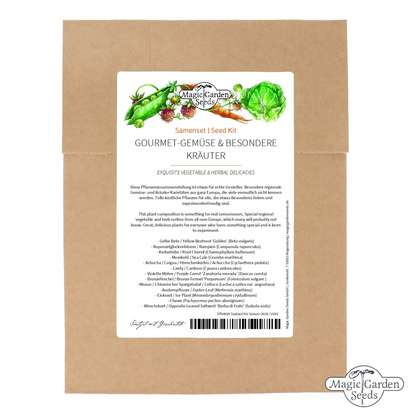 Exquisite Vegetable & Herbal Delicacies - Seed kit