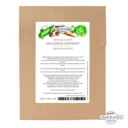 'Asian vegetable selection' seed kit