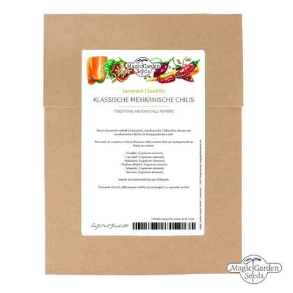 'Traditional Mexican chilli peppers' seed kit with 6 varieties for salsa or mole