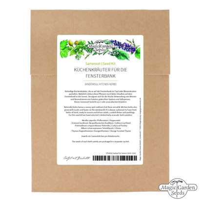 'Windowsill kitchen herbs' seed kit
