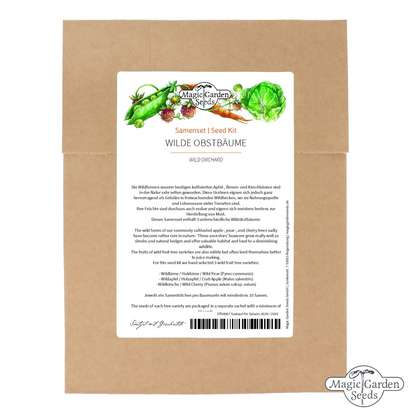 'Wild orchard' seed kit with 3 wild fruit tree varieties