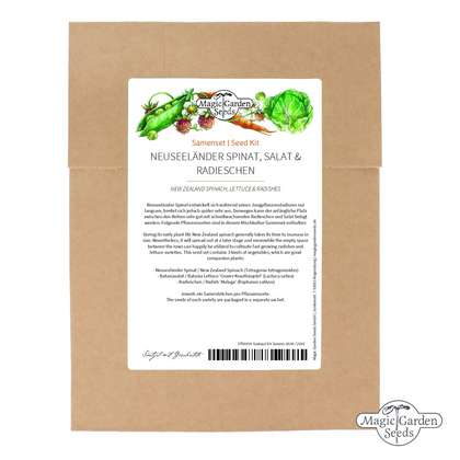 'New Zealand Spinach, Lettuce & Radish' seed kit