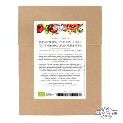 Tomatoes, Basil & Parsley (Organic) - Seed kit