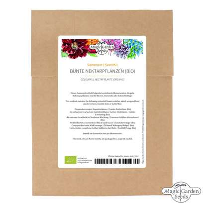 Colourful Nectar Plants (Organic) - Seed kit