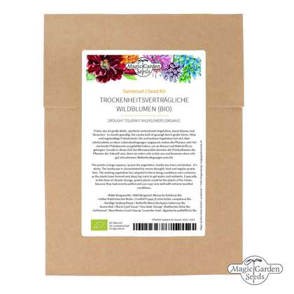 Drought Tolerant Wildflowers For The Prairie Garden (Organic) - Seed kit